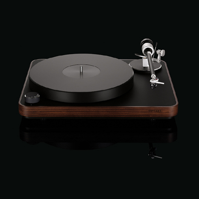 Clearaudio Concept Dark Wood turntable with Satisfy Black tonearm